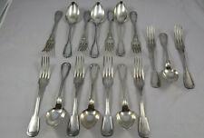 lot ménagere en métal argenté décor filet no argent massif