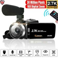 Camcorder Video Camera Full HD 2.7K 30MP Vlogging 16X Zoom Night Vision Youtube