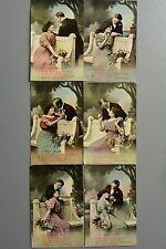 R&L Postcard: Set of 6 Song Cards, No Publisher, Love Story, Sentimental