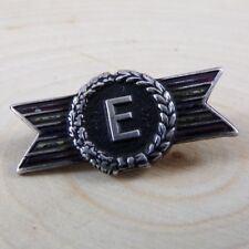 Vintage Sterling Silver Army Navy Production Award E Pin Brooch