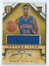 2013-14 Gold Standard Peyton Siva JERSEY RELIC AUTO AUTOGRAPH RC #251 PISTONS