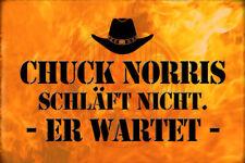 Chuck Norris Spruch 33 Blechschild Schild gewölbt Metal Tin Sign 20 x 30 cm