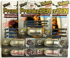 5x PREMIER ZEN MIRACLE ZEN PLATINUM Male Sexual Performance Enhancement ORIGINAL