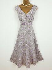 ANOKHI FOR EAST indian cotton summer dress Uk 12