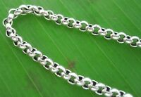 """REAL 925 sterling silver 3mm """"BELCHER OXIDISED"""" CHAIN NECKLACE"""" 40 - 70cm UNISEX"""