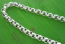"REAL 925 sterling silver 3mm ""BELCHER OXIDISED"" CHAIN NECKLACE"" 40 - 70cm UNISEX"