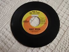 NORTHERN SOUL NANCY WILSON FACE IT GIRL IT'S OVER/THE END OF OUR LOVE CAPITOL