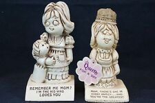 (2) Vintage Retro Mother Figurines Paula Made in USA W 174 & 588 Queen For a Day