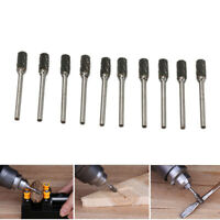 """10Pcs 1/4"""" Tungsten Carbide Rotary Burr Drill Bits for Rotary Tool  1/8"""" Shank"""