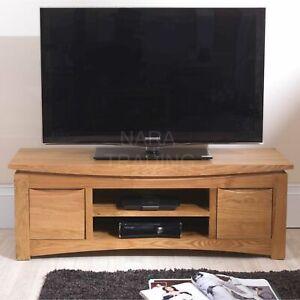 Crescent solid oak furniture widescreen TV DVD cabinet stand unit