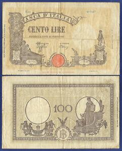 ITALY 100 LIRE 10 AUG 1943 - sreies S43
