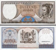 Suriname 1000 Gulden 1963, UNC, 2 Pcs PAIR, Consecutive, P-124