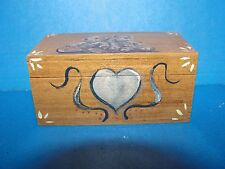 Dollhouse small hand painted chest with bears and heart artist  bedroom 1:12