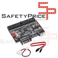 Convertidor Adaptador IDE A SATA Bilateral Bidireccional 2 En 1 HDD Converter