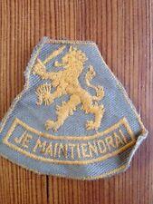 Vtg Je Maintiendrai Netherlands Military Orange Nassau Dutch Royal Family Patch
