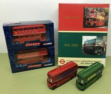 More details for london transport 1:76 scale die cast rml 2296 rml 2309 + corgi routemaster x 2