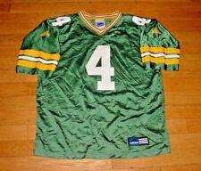 Vtg Adidas Green Bay Packers Brett Favre Football Jersey Green YOUTH 14/16-L