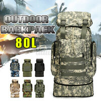 80L Military Tactical Backpack Camouflage Outdoor Bag Camping Hiking Travel Tote