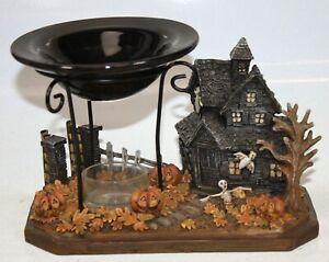 Vtg Yankee Candle Halloween Tealight Candle Haunted Mansion House Boney 1166715