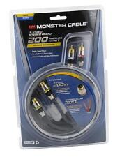 Monster MC 200SV A-2M Analog S-Video Stereo Audio Kit 6 Ft 2 RCA to 2 RCA 6.6