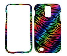 Dark Rainbow Zebra Rubberized Case for Samsung T-Mobile Galaxy S 2 S II T989