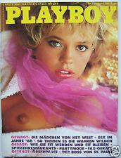 Playboy - D 2/1989,  Shannon Long, Anna Garcia, Sarah Erni, Sex im Jahre '88