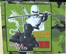 "8- 16""x 16"" GI Joe ""The Rise of Cobra"" Snake Eyes Cotton Pillow Fabric Panels"