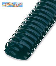 CARTOLERIA - 5 dorsi plastici ad anelli per rilegatrice - 45 mm ovale