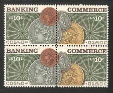 U.S. SC# 1577-78  BANKING & COMMERCE  Blk of 4    MNH  .