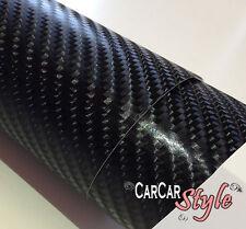 4D Negro Forro De Vinilo Fibra Carbono Burbuja Aire Libre 1500mm X 300mm(59.8in