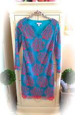 GORGEOUS *LILLY PULITZER* CORAL SIESTA LACE DRESS! ~Sz 0~ Turquoise Blue Coral💕