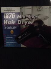 Westinghouse 1875 Mid Size Hair Dryer Compact New Free Shipping