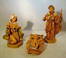 Fontanini The Holy Family Heirloom Nativity Roman 3 Piece Set #71503 Italy 1992