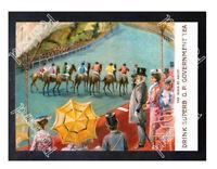 Historic GP Government Tea Ascot racing 1905 Advertising Postcard