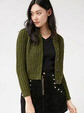 NWT XS UNIF Urban Outfitters Chloe Cardigan Forest Green Boho Hippy Hippie
