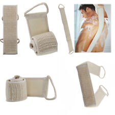 Back Spa Loofah Bath Scrubber Skin Brush Body Exfoliating Shower Sponge Strap