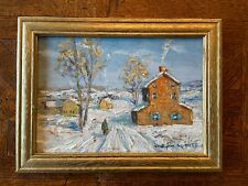 Christopher Willett Bucks County PA Impressionist Oil Painting Snow Landscape