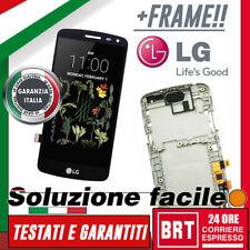 DISPLAY LCD+TOUCH SCREEN+FRAME ORIGINALE PER LG K5 X220 SCHERMO VETRO NERO 24H!!