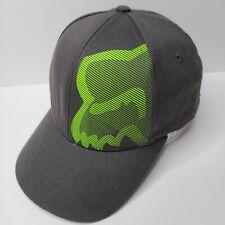 Fox Flexfit Boy's Hat Black Green Athletic Sports Baseball Cap Kid's Youth