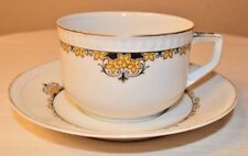 VINTAGE HERMANN OHME SILESIA GERMANY CUP & SAUCER OHM2 FLORAL PATTERN