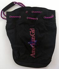 AMERICAN GIRL Doll Black Duffel Carrying Case Bag Sack