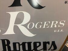 Rogers White Replica 60/70/80's Logo Sticker Decal (Hi Quality 3M Vinyl