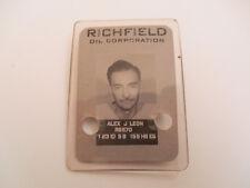 Richfield Oil Corporation Los Angeles California Celluloid Photo ID Badge Pin