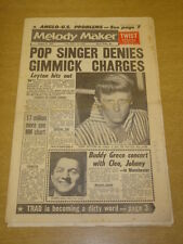 MELODY MAKER 1962 JANUARY 6 JOHN LEYTON TWIST BUDDY GRECO FRANK SINATRA +