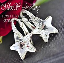 925 Sterling Silver Earrings Crystals from Swarovski® * STAR * 10mm Crystal F