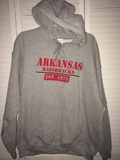 GILDAN University of Arkansas Razorback Size L Pull Over Sweatshirt Hoodie NEW