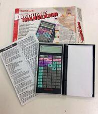 BONDWELL BW-D100 POCKET SIZE LANGUAGE TRANSLATOR. VINTAGE 1990'S ERA