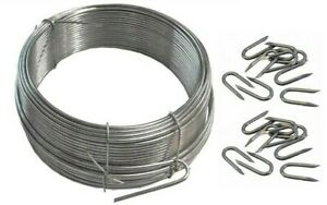 Heavy duty. Galvanised wire & U nails. Fencing. Netting staples. Fence. Plant