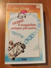 HERBIE IL MAGGIOLINO SEMPRE PIù MATTO - VHS DISNEY