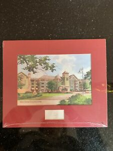 Disney's Saratoga Springs Limited Edition Watercolor Print, Vacation Club Beach